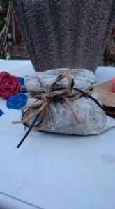 en säck till blommor